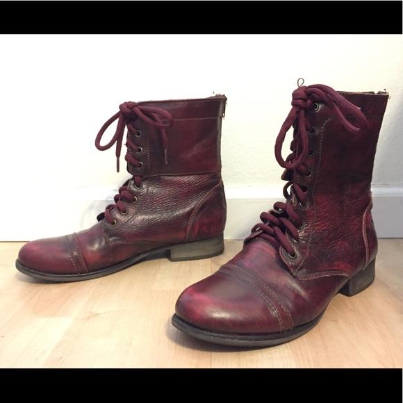 695ba16c552 Steve Madden Troopa Boots - WINE
